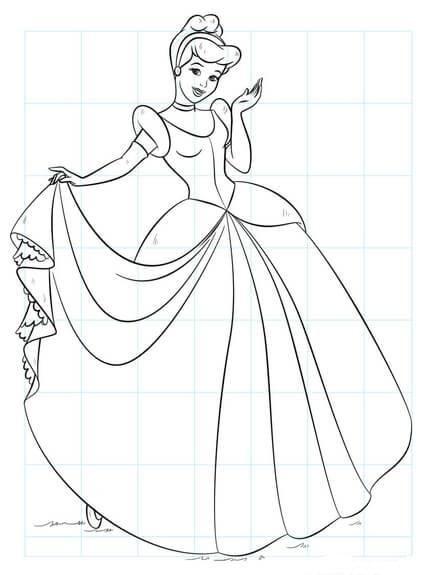 How To Draw Cinderella Cinderella Drawing Barbie Drawing Easy Disney Drawings