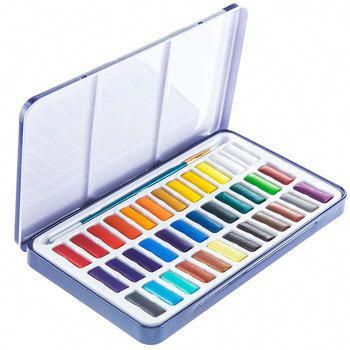 Watercolor Paint 36 Paint Set Watercolorcake In 2020 Painting