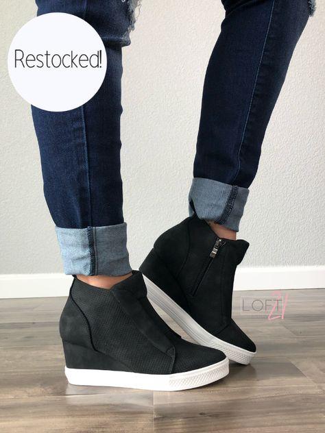 170bed619 Black Wedge Sneaker. More Details · Jillian Janosky. @janoskyj. 3w. 0. Flipmoda  Women Fashion Stylish ...
