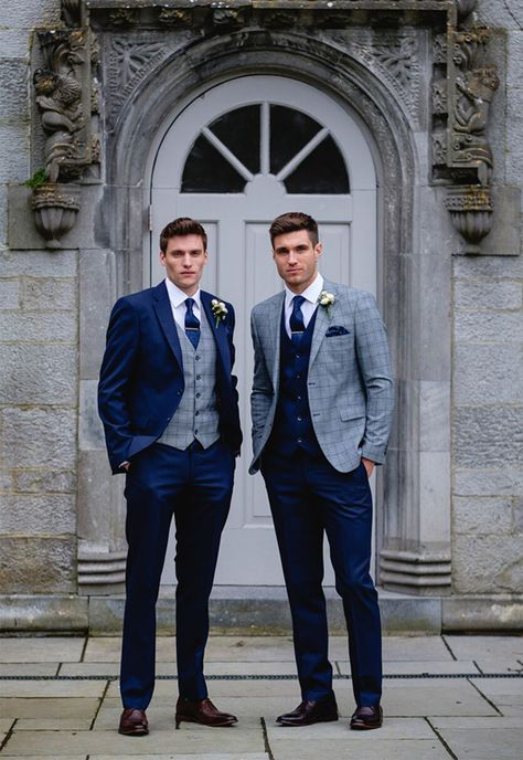 Wedding Suits Benetti Menswear Mix and Match Collection, groomsmen, groom suits, groomsmen suits, three-piece suits Blue Suit Wedding, Wedding Men, Wedding Attire, Mens Wedding Suits Navy, Mens Suits, Vintage Wedding Suits, Groom And Groomsmen Suits, Best Groom Suits, Wedding Ideas