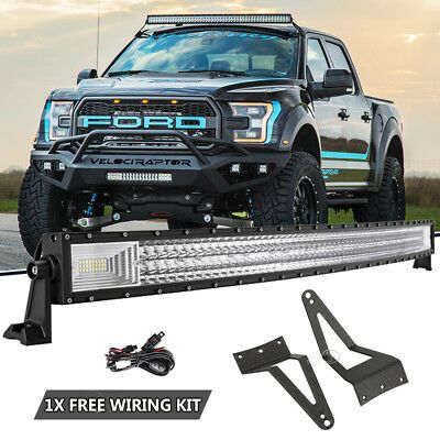 Ad Ebay 50 2808w Tri Row Curved Led Light Bar Mount Bracket For 99 15 Ford F250 350 450 With Images Curved Led Light Bar Led Lights Led Light Bar Mounts