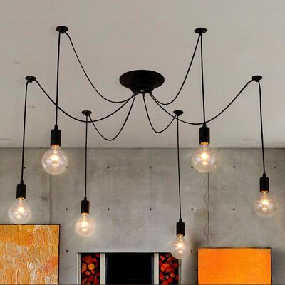 Details About Spider Loft Industrial Hanging Ceiling Lamp