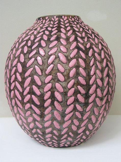 Jean Besnard, Pink vase, circa 1930.
