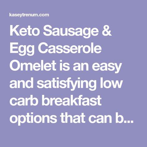 Keto Sausage & Egg Casserole Omelet (low carb)
