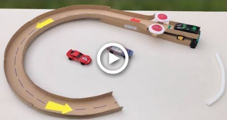 Cardboard Ideas Image By Janelle Harbaugh Hot Wheels Track Diy