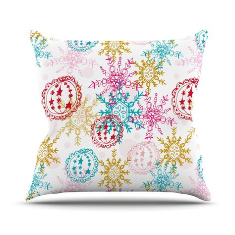 Kess InHouse Famenxt Owl White Purple Throw Pillow 26 by 26