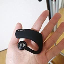 Amazon 進化版 Bluetooth ヘッドセット Numate ワイヤレスイヤホン Bluetooth イヤホン 片耳 左右耳兼用 小型 軽量 スポーツ ビジネス 通勤 通学 車用 着信通知 ハンズフリー通話 V4 1 マイク内蔵 Android Iphone Windows Pc スマート イヤホン 片耳