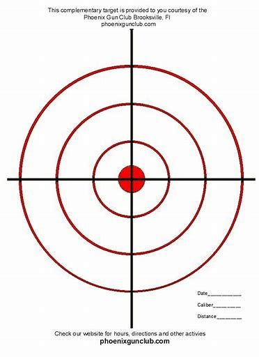 photograph about Printable Shooting Targets 8.5 X 11 named Pistol Goals Printable for 8.5X11 Aims (printable