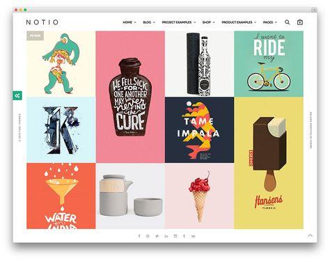 Wonderful Wordpress Themes: NOTIO clean minimal portfolio theme #rokambolesk #webdesign #inspiration #ecommerce #theme #wordpress