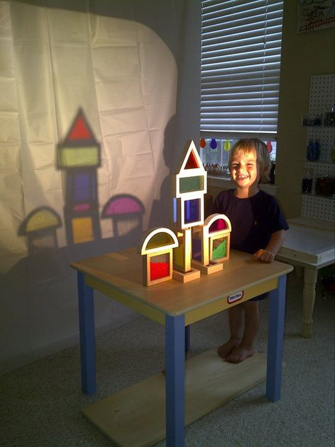 Use a projector for another view of child's creation! Cool! (from playathomemom3.blogspot.com)