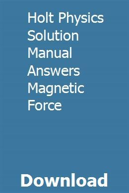 Holt physics solutions manual 2006 by john issuu.