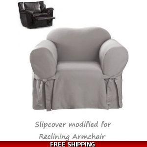 Fabulous Dual Reclining Sofa Slipcover Suede Chocolate Sure Fit Machost Co Dining Chair Design Ideas Machostcouk