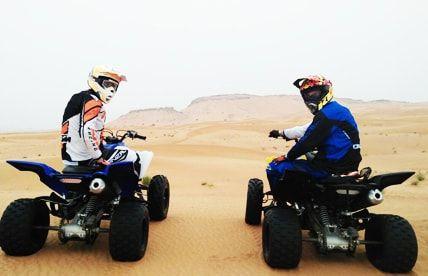 Off Road Quad Biking Tour Safari Abu Dhabi Atv Riding Safari