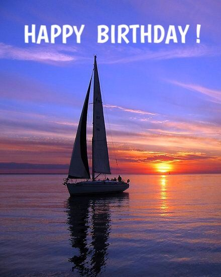 Happy Birthday With Images Boat Art Sailing Sailboat
