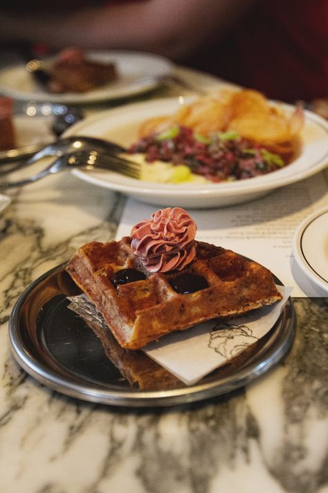 Duck waffle at Cumulus Up, Melbourne