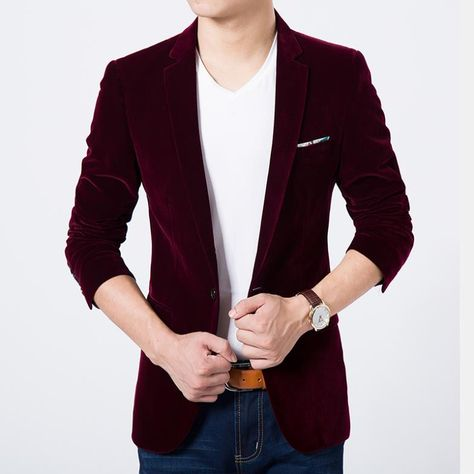 a711f0ae149f93 Mens blazer high quality suit jacket korean fashion velvet blue blazer Male  casual jacket single breasted plus size 6XL on sale Price: 37.41 & FREE  Shipping ...