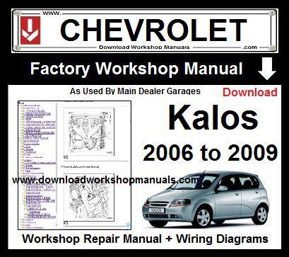 Chevrolet Kalos Workshop Manual Wiring Diagrams 2006 To 2009 Download Buy Now Just 9 95 13 00 Repair Manuals Workshop Daewoo
