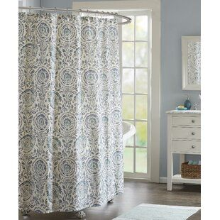 Winston Porter Kerkhoven Paisley Cotton Single Shower Curtain In