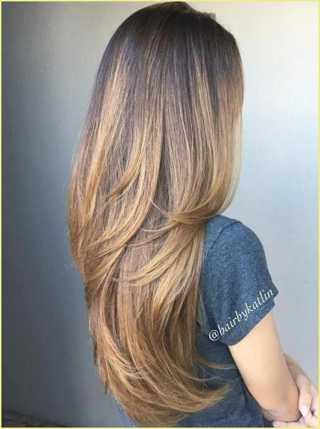 Stufenschnitt lange dicke haare