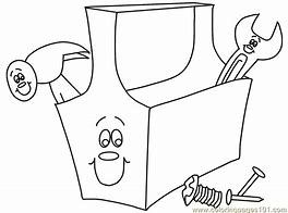 Image Result For Tool Box Coloring Page Printable Coloring Pages Coloring Pages Coloring Pages For Kids