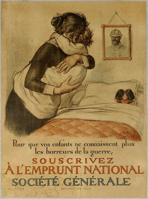 Affiche de l'emprunt de la défense nationale de 1917. Illustrateur : Georges Redon.