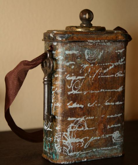 The Altered Tin - From BandAid Box to Mixed Media