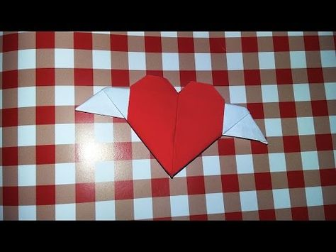 Origami Srce Sa Krilimaheart With Wings Youtube How To Make