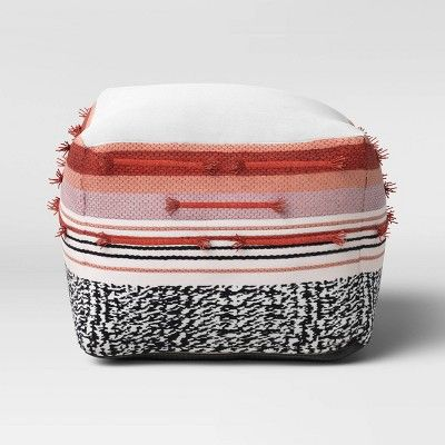 Outdoor Pouf Red Black White Opalhouse In 2020