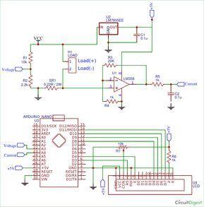 Arduino Wattmeter Circuit Diagram