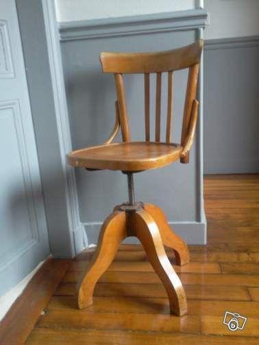 chaussures de séparation e3f75 4c463 Superbe chaise de bureau en bois ancienne Ameublement ...