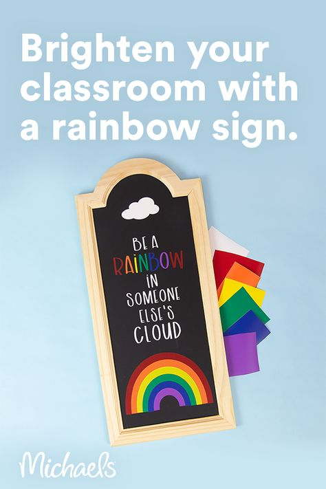 Make a bright and cheery sign for your classroom or office with your Cricut® machine!