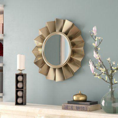 Red Barrel Studio Decorative Round Wall Mirror Wayfair Mirror