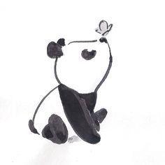Panda com borboleta