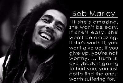 BOB MARLEY QUOTE GLOSSY POSTER PICTURE PHOTO singer robert music famous 2308