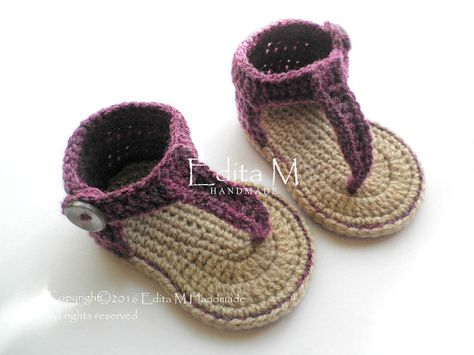 4c60b04ff686 Crochet baby sandals baby gladiator sandals booties shoes
