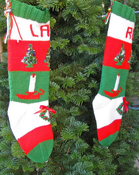1950's Style Christmas Stocking orders for 2014 by HHknits on Etsy, $125.00