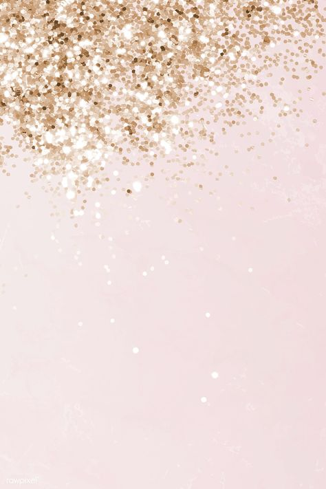 Pink and gold glittery pattern background vector | premium image by rawpixel.com / NingZk V.