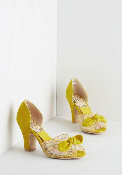 Just Be Cosmopolitan Heel in Citrus, #ModCloth