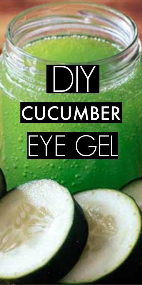 DIY Cucumber Powder Eye Gel To Get Rid Of Dark Circles Very Quickly #cucumber #eyegel #darkcircles #skincare #skincaretips #diy #natural #eyes #skin