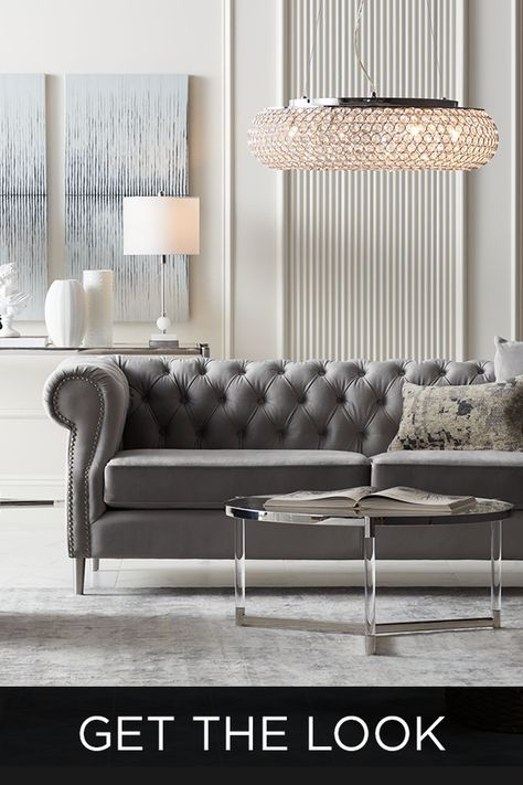 Get the Look! Luxe Contemporary Home Decorating Style With A Touch of Glam | Lamps Plus