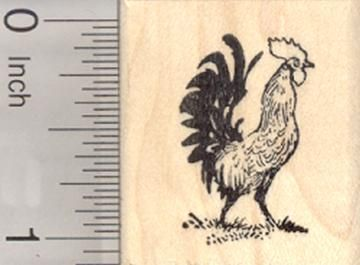 Hen Polish Crested Chicken Rubber Stamp