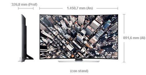 Resultado De Imagen Para Medidas Tv 65 Pulgadas Samsung Curvo