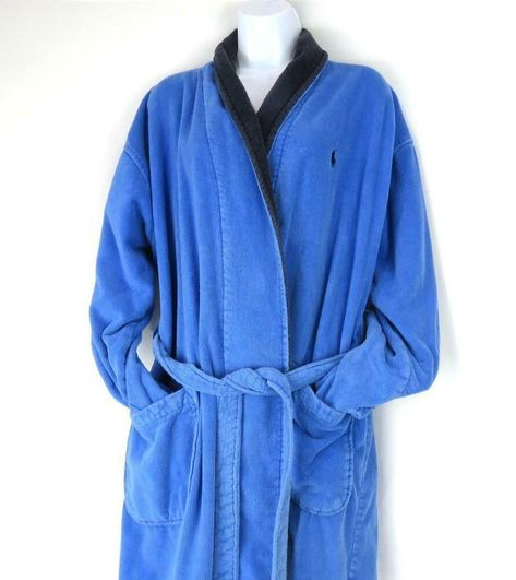 arrives newest style elegant and sturdy package Polo Ralph Lauren Mens Bath Robe Heavy Terry Cloth One Size ...