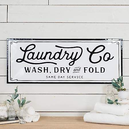 Metal Laundry Wall Plaque Laundry Signs Laundry Room Wall Signs
