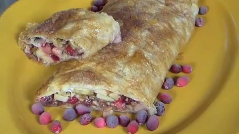 Cranberry Apple - Walnut Strudel This recipe is THE BEST!!  Family Style Servings for Thanksgiving!