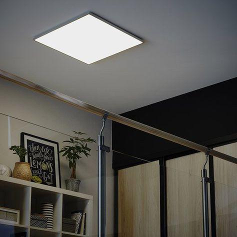 Panneau Led Integree Gdansk Inspire Carre 60 X 60 Cm 45 W Intensite Variable Panneau Led Deco Combles Led Plafond