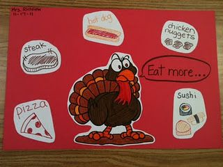 """""""Eat More ___"""" writing activity"""