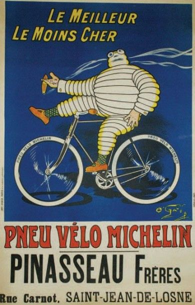 Choice of Two sizes. Unique Vintage French Bicyclette Advertising Print
