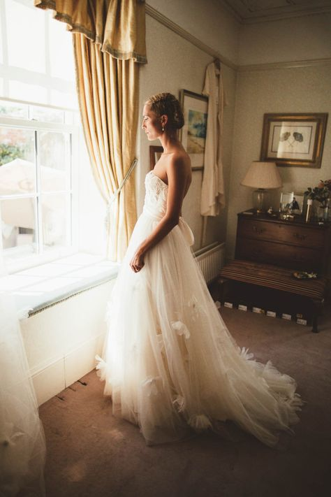 Country Marquee Wedding with Bride in Halfpenny London Wedding Dress and Bridal Braided Up Do