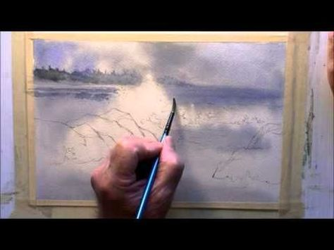 Painting Rough Water In Watercolor Youtube Peinture Dessin